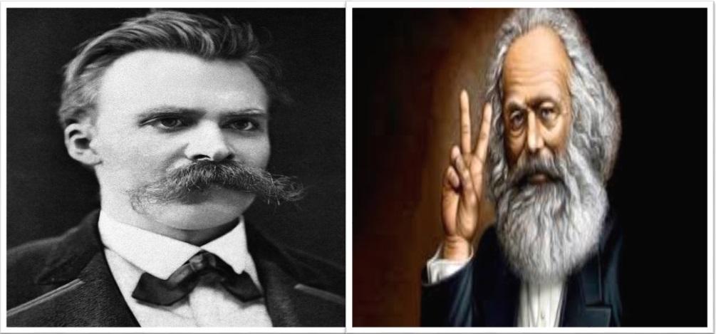 Nietzsche e Marx, deturpados com fins políticos